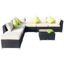 Outsunny 8 Seater Sectional Sofa Set with Cushions