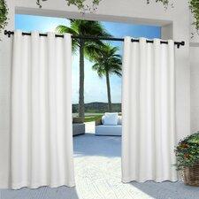 Denton Solid Semi-Sheer Grommet Curtain Panels (Set of 2)