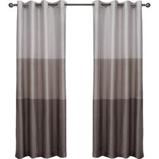 Newton Striped Semi-Sheer Grommet Curtain Panels (Set of 2)