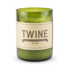 Frampton Upcycled Wine Bottle Unscented Designer Candle