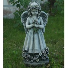 Angel Holding Flowers Statue