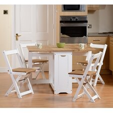 Southcase Folding Dining Set with 4 Chairs