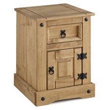 Corona Petite 1 Drawer Bedside Table