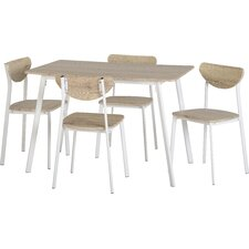 Amanda Dining Table and 4 Chairs