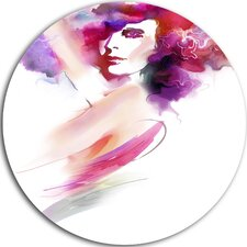 'Woman with Colors' Graphic Art Print on Metal