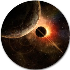 'Planet with Rings' Photographic Print on Metal