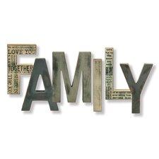 Family Letter Block