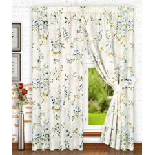 Chatsworth Tailored Nature / Floral Semi-Sheer Rod Pocket Curtain Panels (Set of 2)