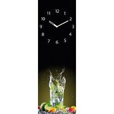 Analoge Wanduhr Time Art Cocktail
