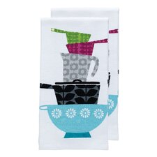 Pots and Pans Print Dual Kitchen Dishcloth (Set of 2)