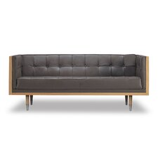 Kail Leather Chesterfield Loveseat