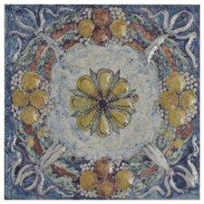 "Obila 2.75"" x 2.75"" Ceramic Trim Wall Medallions Tile in Arenal Taco"
