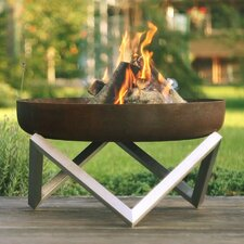 Memel Stainless Steel Wood Burning Fire Pit