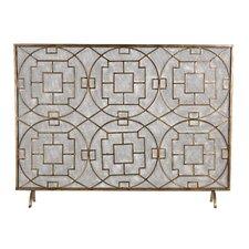 Rockwell Single Panel Iron Fireplace Screen