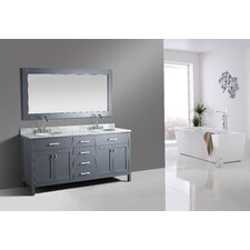 "London Stanmark 72"" Double Bathroom Vanity Set with Mirror"
