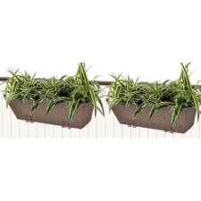 2 Piece Plastic Window Box Planter Set