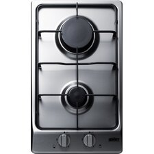"""12"""" Gas Cooktop with 2 Burners"""