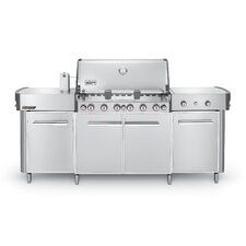 Summit® Center 6-Burner Natural Gas Grill with Smoker