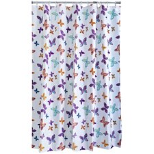 Butterfly Blossom PEVA Shower Curtain