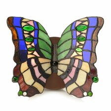 Diwata Stained Glass Butterfly 2-Light Candle Sconce