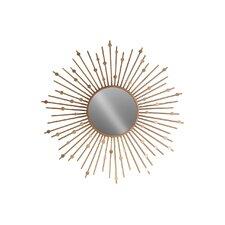 Metal Sunburst Accent Wall Mirror