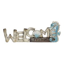Welcome Friends Sea Horse Garden Sign