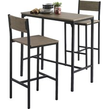 Delevan 3 Piece Bar Table Set