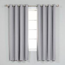 Fairhaven Basic Solid Blackout Thermal Grommet Curtain Panels (Set of 2)
