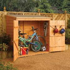 Burr 6 Ft. W x 2.5 Ft. D Wooden Storage Shed