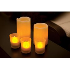 5 Piece Unscented LED Flameless Candle Set