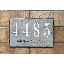 Personalized Slate Home 2-Line Wall Address Plaque