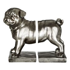2 Piece Pug Bookends Set (Set of 2)