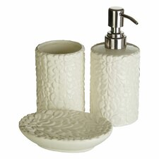 Magnolia Dolomite 3 Piece Bathroom Accessory Set