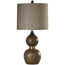 "Willis Wood Molded 32"" Table Lamp"