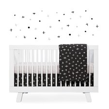 Tuxedo Monochrome Nursery 5 Piece Crib Bedding Set