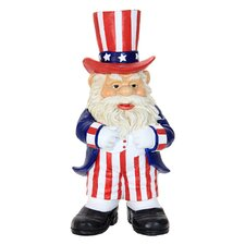 Uncle Sam Gnome Statue