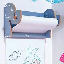 Wall-Mounted Elephant Paper Roll Art Easel