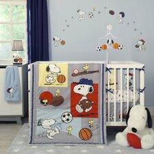 Snoopy Sports 3 Piece Crib Bedding Set