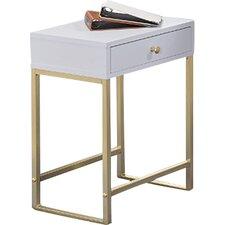Thynes Rectangle White End Table