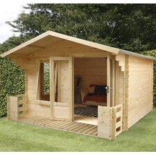 11 x 12 Ft. Log Cabin with Veranda