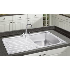 96.5cm x 50cm Single Bowl and Drainer Kitchen Sink