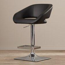 Urban Unity Gustavo Adjustable Height Swivel Bar Stool with Cushion