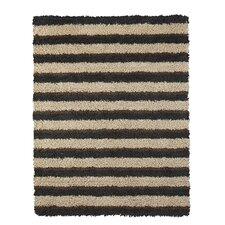 Euna Brown Stripe Area Rug