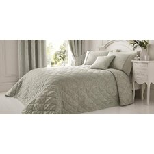 Laurent Jacquard and Rope Trim Damask Quilted Bedspread