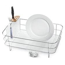 Slim Dish Rack in Brushed Stainless Steel