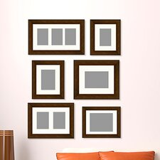 6 piece gallery wall picture frame set