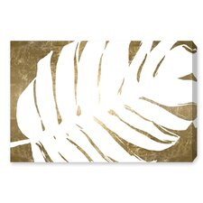 'Tropical Leaves III' Framed Graphic Art Print on Wrapped Canvas