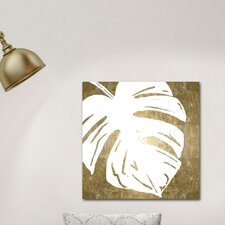 'Tropical Leaves Square IV' Graphic Art Print on Wrapped Canvas