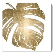 'Tropical Leaves Square II' Framed Graphic Art Print on Wrapped Canvas