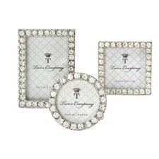 3 Piece Diamonds Jeweled Picture Frame Set